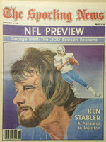 1980 The Sporting News September 6 Ken Stabler Houston Oilers Excellent