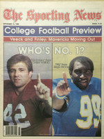 1980 The Sporting News September 13 College Football Review - Major Oglivie (Alabama), Hugh Green (Pitt) Near-Mint