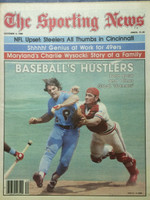 1980 The Sporting News October 4 Baseball's Hustlers ft: Pete Rose (cover) Near-Mint