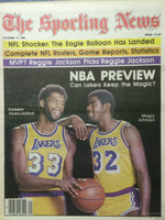1980 The Sporting News October 11 NBA Preview: Magic Johnson and Kareem Abdul-Jabbar Excellent