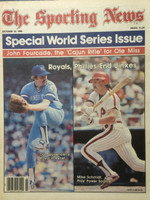 1980 The Sporting News October 25 World Series Issue : Dan Quisenberry, Mike Schmidt Excellent