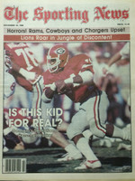 1980 The Sporting News November 22 Herschel Walker Georgia (First Cover) Near-Mint