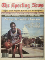 1980 The Sporting News December 6 College Basketball Preview - Albert King (Maryland) Near-Mint