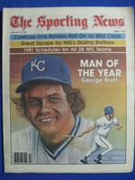 1981 The Sporting News January 10 George Brett (Man of the Year) Royals Near-Mint