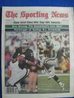 1981 The Sporting News January 24 NFL Championship Sunday - Jim Plunkett - Wilbert Montgomery Near-Mint