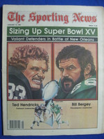 1981 The Sporting News January 31 Super Bowl Preview - Eagles vs Raiders Near-Mint