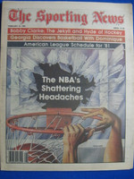1981 The Sporting News February 21 The NBA's Shattering Headaches Near-Mint