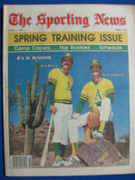 1981 The Sporting News March 7 Billy Martin - Rick Langford of Oakland A's Near-Mint