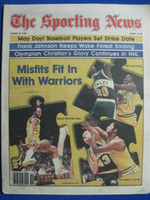 1981 The Sporting News March 14 Golden State Warriors (Lloyd Free, Bernard King, JB Carroll) Near-Mint