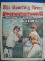 1981 The Sporting News March 28 Fred Lynn - Don Sutton (on new teams) Near-Mint
