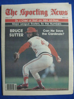 1981 The Sporting News April 25 Bruce Sutter Cardinals Near-Mint