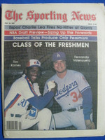 1981 The Sporting News May 23 Fernando Valenzuela - Tim Raines (First Cover for each) Near-Mint