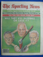 1981 The Sporting News May 30 Bowie Kuhn - Marvin Miller Near-Mint