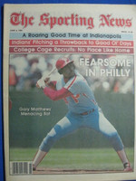 1981 The Sporting News June 6 Gary Matthews - Fearsome in Philly Near-Mint