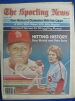 1981 The Sporting News June 20 Pete Rose Chases Stan Musial (Great Cover!) Near-Mint