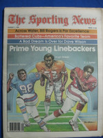 1981 The Sporting News August 1 Lawrence Taylor (First Cover), w/Hugh Green and EJ Junior Near-Mint
