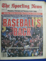1981 The Sporting News August 15 Baseball's Back - Strike is Over Near-Mint