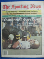 1981 The Sporting News October 3 Michigan Defeats Notre Dame Near-Mint