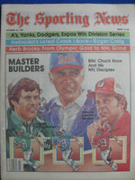 1981 The Sporting News October 24 Chuck Knox and his NFL Disciples Near-Mint