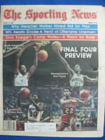 1982 The Sporting News April 3 Final Four Preview (Sam Perkins cover) Near-Mint