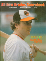 1980 Orioles Program vs Yankees (52 pages) SCORED McGregor vs Tiant AUG 17 (Bal 1-0) Near-Mint [Neatly scored]
