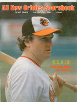 1980 Orioles Program vs Yankees (52 pages) SCORED Stone vs Underwood AUG 14 (Bal 6-1) Near-Mint [Very clean]