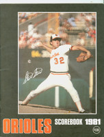 1981 Orioles Program vs Yankees Unscored (64 pages) Near-Mint [Very clean]