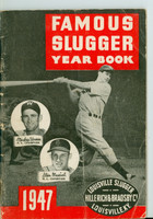 1947 Famous Slugger Yearbook (66 pg) Cover: Stan Musial - Mickey Vernon Very Good [Wear and creasing on cover; contents fine]