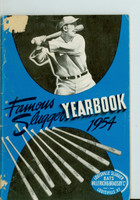 1954 Famous Slugger Yearbook (66 pg) - loaded with photos and features Good to Very Good [Small portion of paper loss on cover, contents fine]