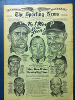 1961 Sporting News January 4 Men of the Year: Mazeroski, Murtaugh, Weiss Excellent [Fraying on bottom edge, ow clean]