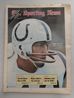 1971 Sporting News January 16 Johnny Unitas Colts Excellent [Fraying on edges, contents fine]