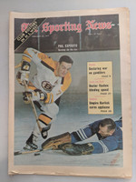 1971 Sporting News February 20 Phil Esposito Bruins Very Good to Excellent [Fraying on bottom edge, ow clean]