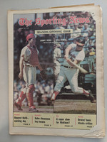 1971 Sporting News April 10 Johnny Bench, Boog Powell Excellent [Fraying on edges, contents fine]