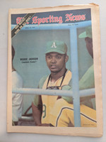 1971 Sporting News April 17 Reggie Jackson A's Excellent [Fraying on top edge, ow clean]