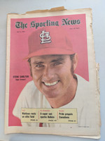 1971 Sporting News May 8 Steve Carlton Cardinals Excellent [Fraying and tears on top edge, ow clean]