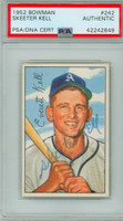 Everett Kell AUTOGRAPH d.15 1952 Bowman #242 Athletics HIGH NUMBER PSA/DNA CARD IS NMT