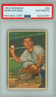 Hank Majeski AUTOGRAPH d.91 1952 Bowman #58 Athletics PSA/DNA CARD IS CLEAN EX