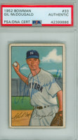 Gil McDougald AUTOGRAPH d.10 1952 Bowman #33 Yankees ROOKIE PSA/DNA CARD IS CLEAN VG/EX