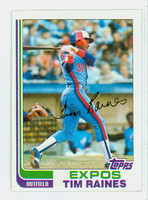 1982 Topps Baseball 70 Tim Raines Montreal Expos Near-Mint to Mint