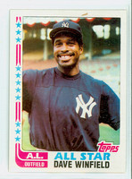 1982 Topps Baseball 553 Dave Winfield AS New York Yankees Near-Mint to Mint