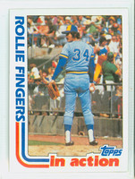1982 Topps Baseball 586 Rollie Fingers IA Milwaukee Brewers Near-Mint to Mint
