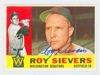 Roy Sievers AUTOGRAPH d.17 1960 Topps #25 Senators CARD IS CLEAN EX