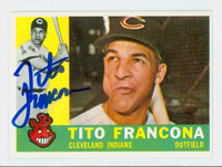 Tito Francona AUTOGRAPH d.18 1960 Topps #30 Indians CARD IS CLEAN EX