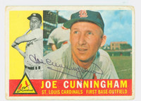 Joe Cunningham AUTOGRAPH 1960 Topps #40 Cardinals CARD IS F/G; AUTO CLEAN