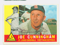 Joe Cunningham AUTOGRAPH 1960 Topps #40 Cardinals CARD IS VG; AUTO CLEAN