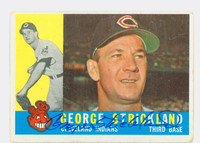 George Strickland AUTOGRAPH d.10 1960 Topps #63 Indians CARD IS G/VG; RND CRNS