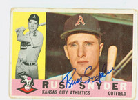 Russ Snyder AUTOGRAPH 1960 Topps #81 Athletics CARD IS F/P [SKU:SnydR1377_T60BBLX]