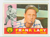 Frank Lary AUTOGRAPH 1960 Topps #85 Tigers CARD IS CLEAN VG/EX