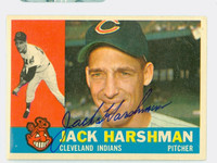 Jack Harshman AUTOGRAPH d.13 1960 Topps #112 Indians CARD IS G/VG; SCRATCHES, AUTO CLEAN