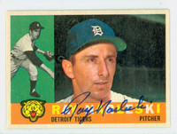 Ray Narleski AUTOGRAPH d.12 1960 Topps #161 Tigers CARD IS CLEAN EX  [SKU:NarlR2731_T60BBLX]